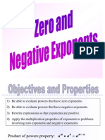 Zero and Negative Exponents