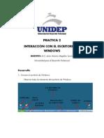unidep informatica PRACTICA 2 Interaccion Con El Escritorio de Windows