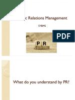 Public Relations Management Section 1