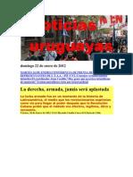 Noticias Uruguayas jueves 19 de Enero de 2012