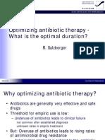 Optimal Duration Antibiotic