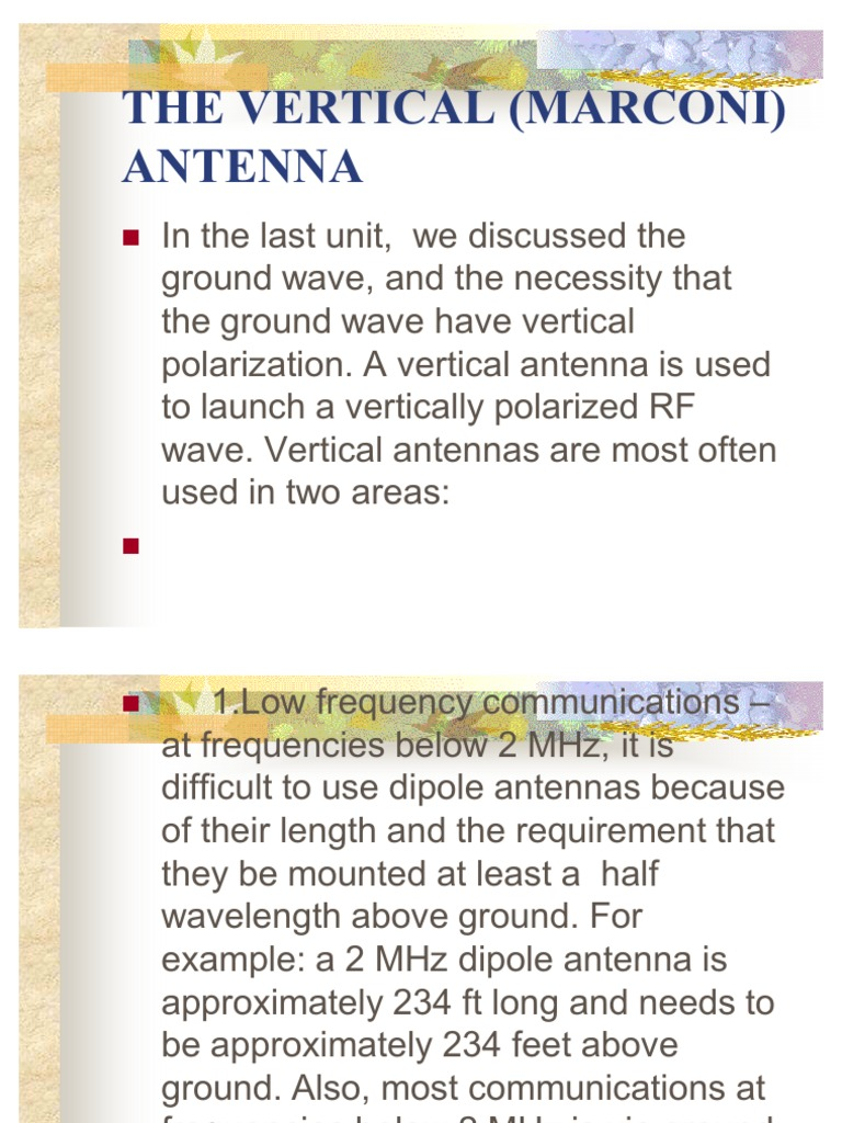 The Vertical (Marconi) Antenna