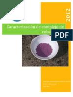 Caracterización de complejo de cobalto