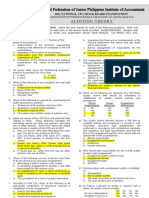 NFJPIA Mockboard 2011 Auditing Theory