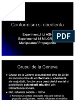 Conformism Si Obedienta