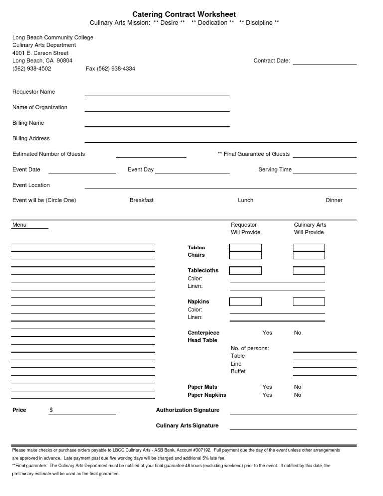 Catering contract template thecheapjerseys Image collections
