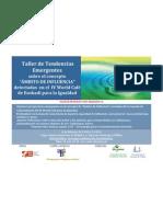 """Taller de Tendencias Emergentes sobre el concepto de """"Ámbito de Influencia"""" detectadas en el IV World Café de Euskadi para la Igualdad"""