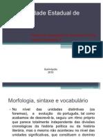 Morfologia Sintaxe e Vocabulario