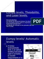 Dumpy Levels, Theodolite And Laser Levels