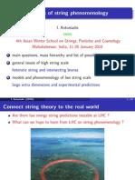 I. Antoniadis- Aspects of string phenomenology
