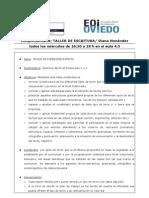 Schreibwerkstatt Programa Provisional de La Complement Aria Diana 0809 Nivel Intermedio