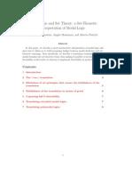Modal Logic and Set Theory - Agostino Montanari Policriti