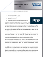 RBI Mid Quarter Monetary Policy Review