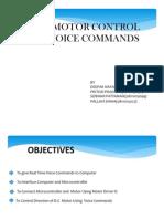 D.C Motor Cotrol Using Voice Commands