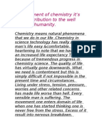 Achievement of Chemistry It
