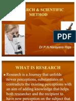 Research & Scientific Method by Dr.P.N.Narayana Raja