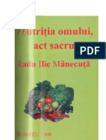 Radu Ilie Manecuta - Nutritia Omului Act Sacru
