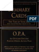 Anthony Robbins - Time of Your Life - Summary Cards Scan