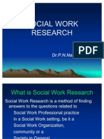 Social Work Research by Dr.P.N.Narayana Raja