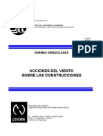 Cargas de Viento. Norma COVENIN 2003-86