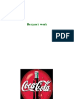 Research Work-coca Cola