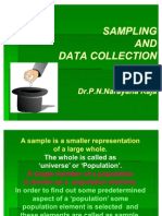 Sampling, Data Collection and Review of Literature by Dr. P.N.Narayana Raja