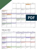 Calendario de la ICDC en Espinosa para el 2012