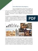 La Tecnología de los Materiales Estratégicos
