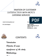 AN EXAMINATION OF CUSTOMER SATISFACTION WITH IRCTC'S CATERING