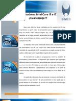 Procesadores Intel I5 e I7