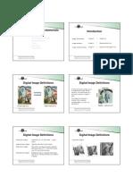 Image Processing Fundamentals Handouts