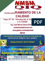 Tema 01 - Introduccion Al Aseguramiento de La Calidad