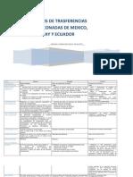 Analisis de Los PTC de Mexico, Ecuador y Uruguay