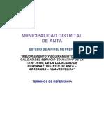TDR escuela