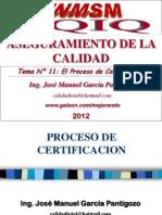 Tema 11 - El Proceso de Certificacion