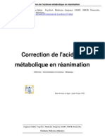 Correction de l'Acidose Metabolique en Urgence