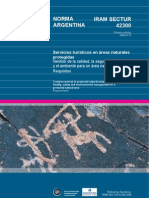 Servicios Turisticos en Areas Protegidas Argentina IRAM 42300