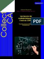 62704237 Les Lecons de Mathematiques a l Oral Du CAPES