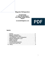research paper on magnetic refrigeration Sourabh SIngh