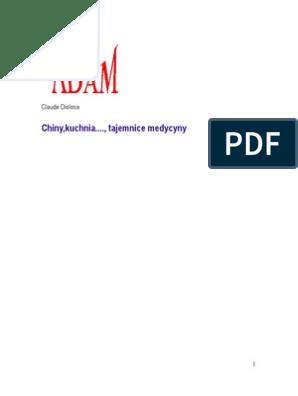 Claude Diolosa Chiny Kuchnia Tajemnice Medycyny