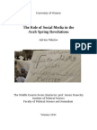 The role of social media in the Arab Spring