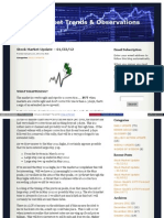 01-22-12 Stock Market Trends & Observations Update