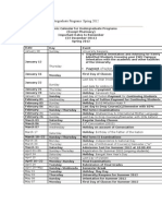 Academic Calendar for Undergraduate Programs