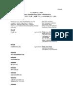 Coach, Inc. et al. v. 1941 Coachoutletstore.com et al. (E.D. Va.) (docket, as of 1-22-12)