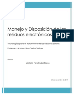 Manejo y Disposición de los residuos electrónicos