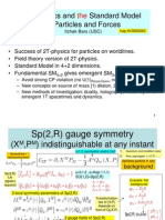 Itzhak Bars- 2T-physics and the Standard Model of Particles and Forces