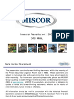 Miscor Presentation 2008 (Final)