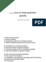Rodolfo Gambini- Lectures on loop quantum gravity