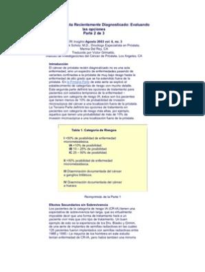 criterios de epstein para el cáncer de próstata insignificante