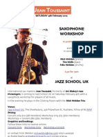 Jean Toussaint Workshop and Concert Poster
